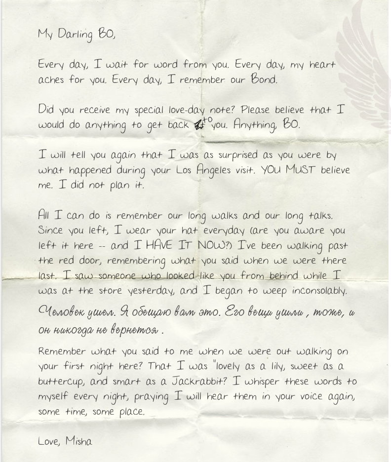 The mysterious letter found near the valentine